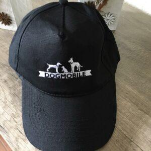 Basecap schwarz, mit Dogmobile – Logo in weiß